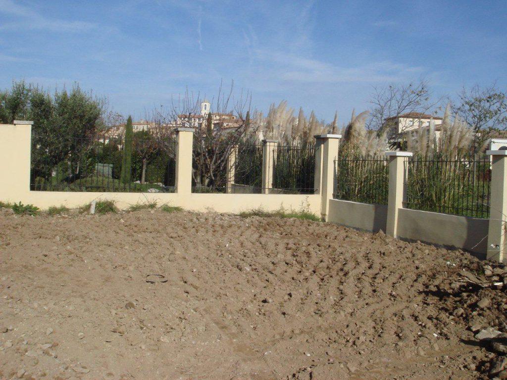 Creating a garden, before